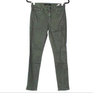 Joes green skinny jeans